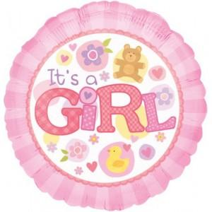 Balloon It's a Girl Large Helium 17inch