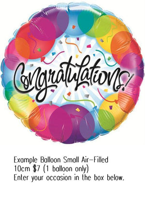 Balloon Small Ait Filled Example Image Congrats Occasion