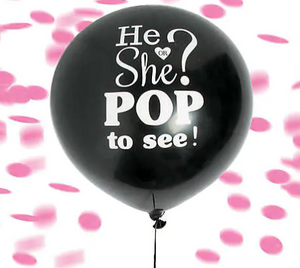 "Gender Reveal Balloon Large 24"" (Balloon Only) - Lollylicious.com.au"