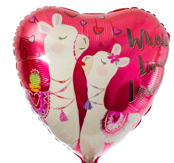 Whole Llama Love Helium Balloon 17""