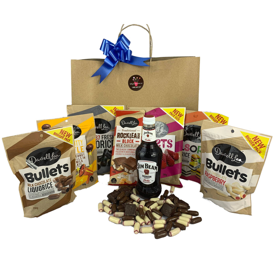 Lollylicious - Darrel Lea™ chocolate hamper with Crown Lager