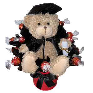 BOUQUET - Graduation Teddy & Lindt Chocolate Bouquet
