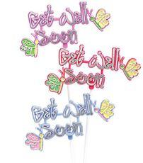 PICK - Get Well Soon Pick |  Butterfly (1 Item)