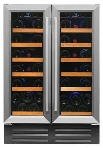 40 Bottle Dual Zone Wine Cooler