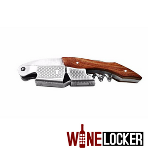 Multifunction Wine Bottle Opener With Rosewood Handle