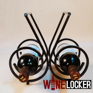 Curl Designed Wine Rack for Two or Three Bottles