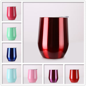 Stainless Steel Wine Tumbler with Lid 9oz