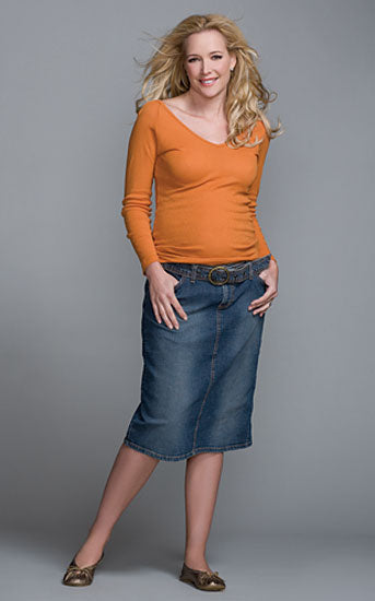 Maternal America Belted Denim Skirt