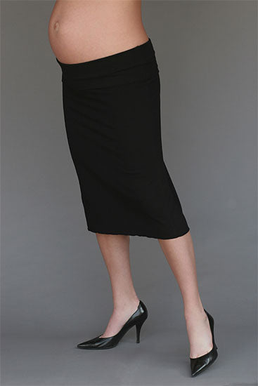 Super Soft Fold Over Maternity Skirt - tummystyle.com