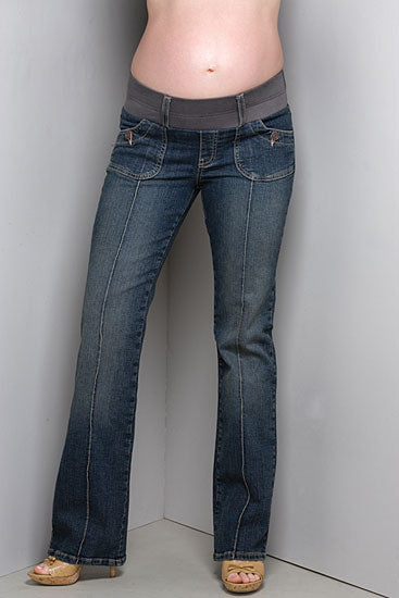 Maternal America Pintuck Maternity Jeans - tummystyle.com
