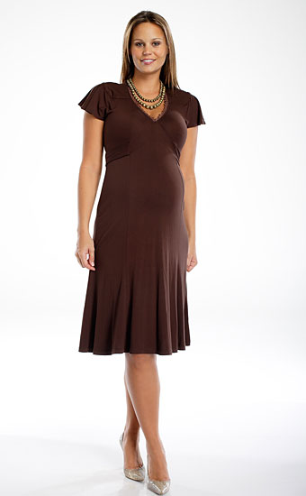 V - Neck Dress With Trim