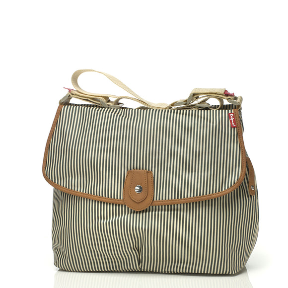 Babymel Satchel Blue Stripe Diaper Bag - tummystyle.com