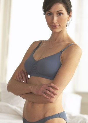 New! Bella Materna Ruched Clip Nursing Bra