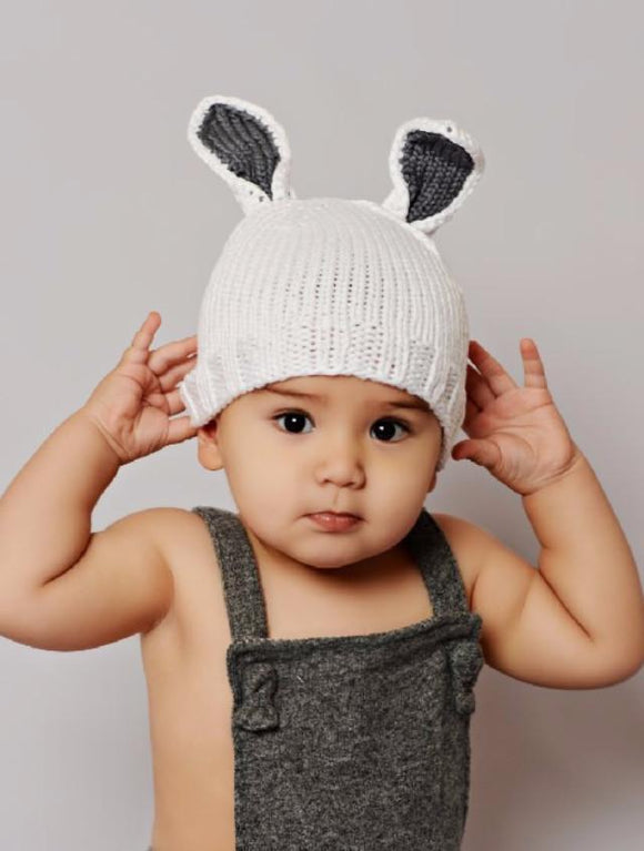 Blueberry HIll White Bamboo Bunny Hat - tummystyle.com