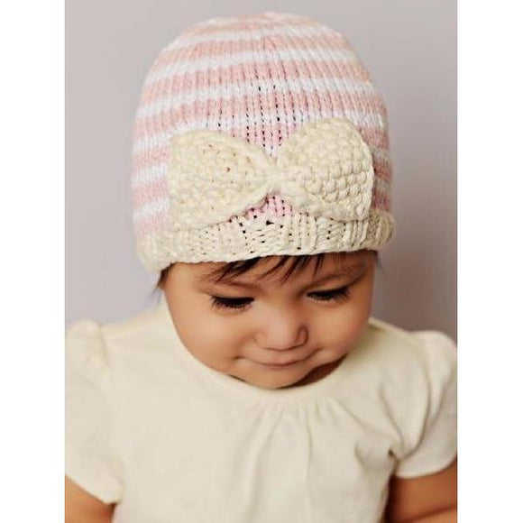 Blueberry HIll Pink and White Striped Bamboo Hattie Baby Hat - tummystyle.com
