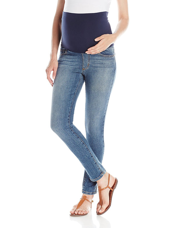 Maternal America Belly Support Skinny Ankle Maternity Jean - tummystyle.com