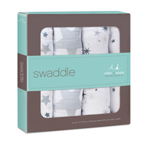 twinkle classic baby swaddles by aden & anais - 4 pc - tummystyle.com