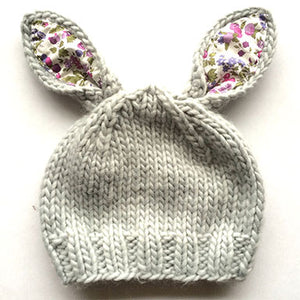 Blueberry HIll Liberty of London Bailey Bunny Baby Hat - tummystyle.com