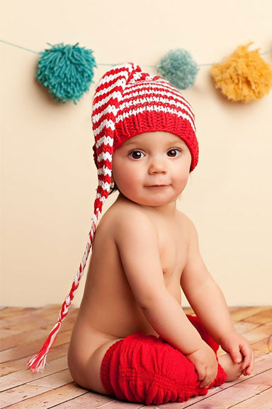 "Blueberry Hill ""Lucy"" Striped Baby Beanie"