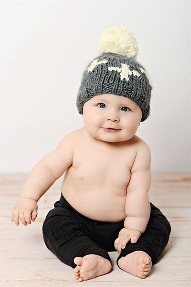 "Blueberry Hill ""Miko"" Swiss Cross Baby Hat"