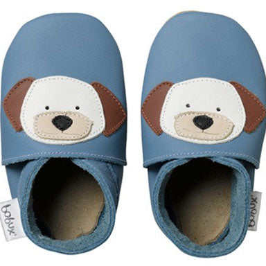 Bobux Blue Puppy Soft Sole Shoes - tummystyle.com
