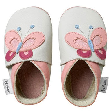 Bobux Milk Butterfly Soft Sole Baby Shoes - tummystyle.com