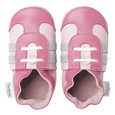 Bobux Pink Sport Soft Sole Baby Shoes