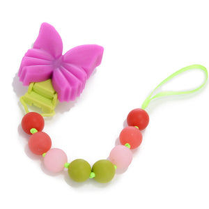 Chewbeads Butterfly Pacifier Clip - tummystyle.com