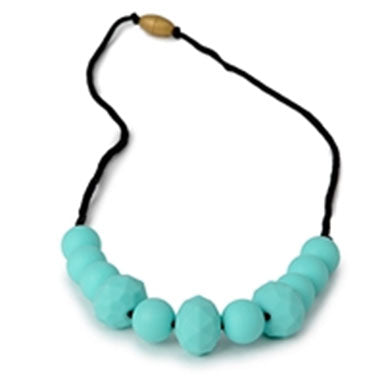Chewbeads Chelsea Teething Necklace - Turquoise - tummystyle.com