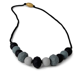 Chewbeads Chelsea Teething Necklace - Black - tummystyle.com