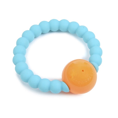 Chewbeads Mercer Teething Ring Rattle in Turquoise - tummystyle.com