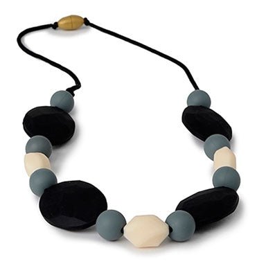 Chewbeads Tribeca Teething Necklace - Black - tummystyle.com