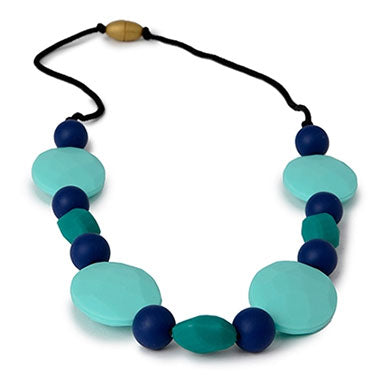 Chewbeads Tribeca Teething Necklace - Turquoise