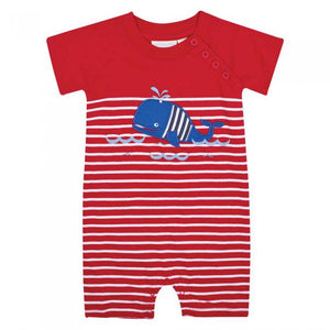 Jojo Maman Whale Baby One Piece Romper - tummystyle.com