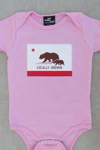 24-7 Daddyhood - Locally Grown Baby Onesie - Pink - tummystyle.com
