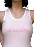 just delivered tank (Pink Letters)