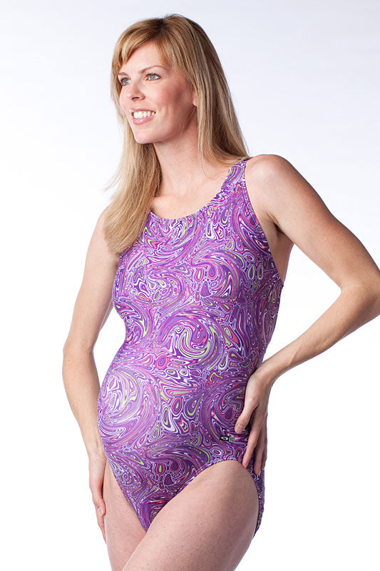 EQ Plum Harmony Maternity Swimwear