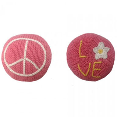 Estella Organic Peace and Love Rattle - tummystyle.com