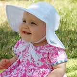 Flap Happy Pink Baby Floppy Hat