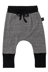 Huxbaby Lost High Cuff Charcoal Baby Pant