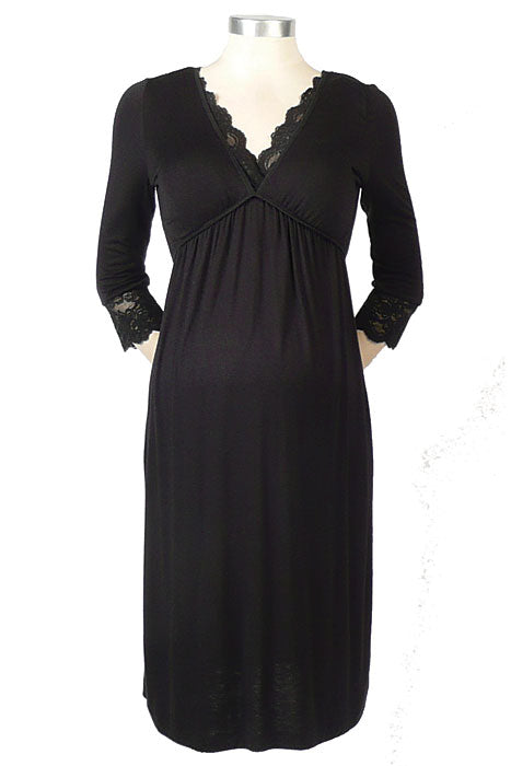 Japanese Weekend Lace Trim Gown - tummystyle.com