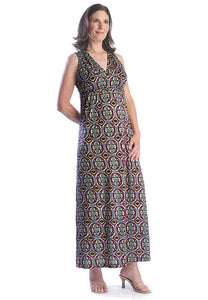 Japanese Weekend Tribal Print Maxi Dress