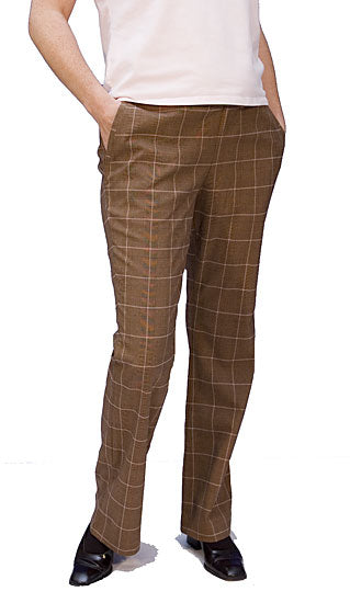 Japanese Weekend Plaid Maternity Pant