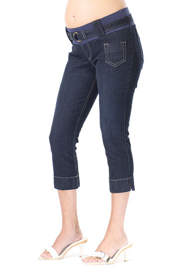 Japanese Weekend Slim Fit Crop Maternity Jean - tummystyle.com