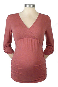Side Shired Maternity & Nursing Top - tummystyle.com