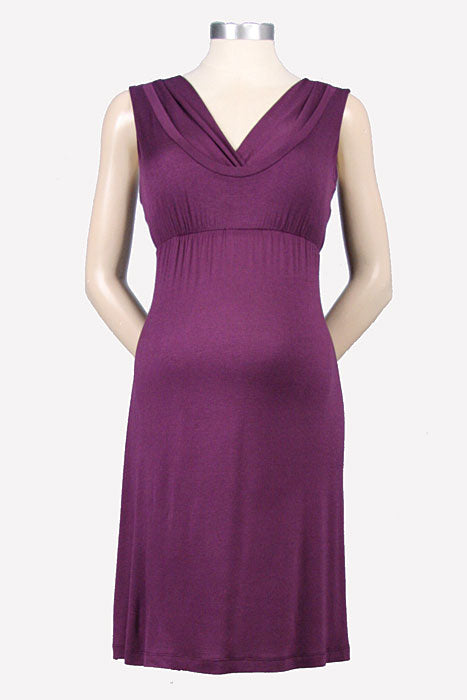 Japanese Weekend Scoop V Maternity/Nursing Dress