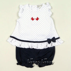 Kissy Kissy Red Crabby Print Sunsuit