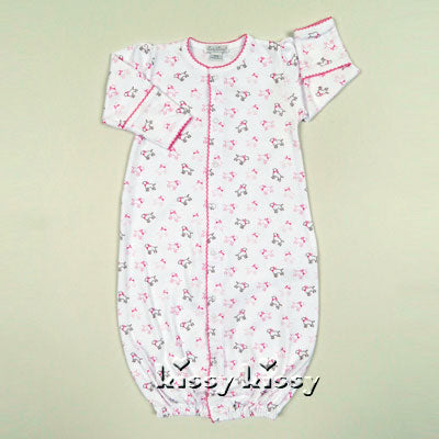 Kissy Kissy Puppy Love Print Convertible Gown in Pink