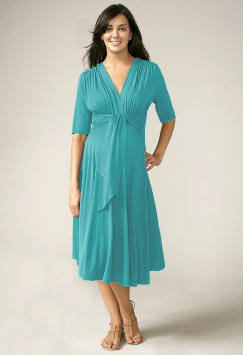 Maternal America Marina Front Tie Keyhole Dress