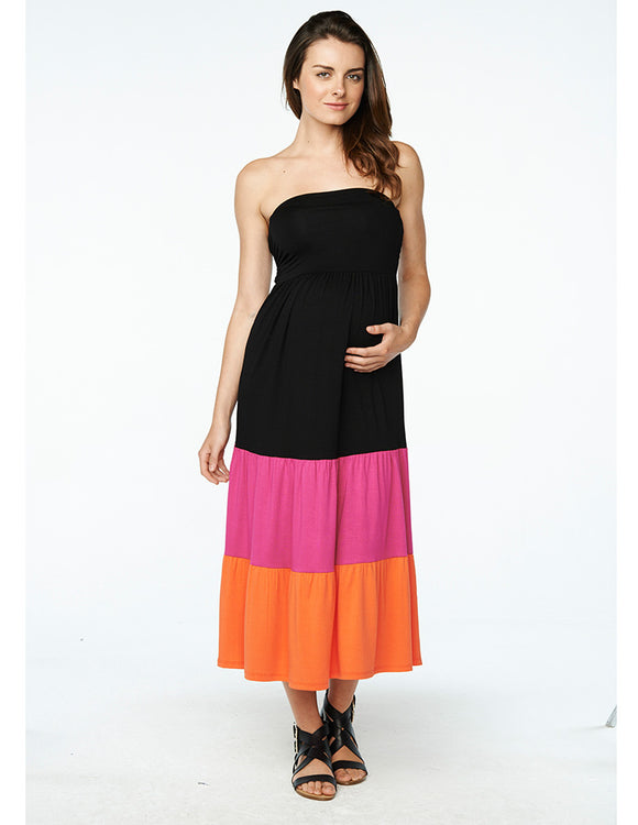 Maternal America Convertible Strapless Ombre Dress/Skirt